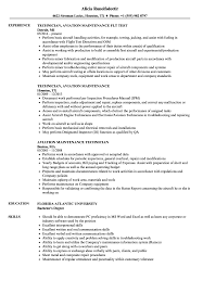 Sample Aviation Resume Aviation Maintenance Technician Resume Samples Velvet Jobs 23