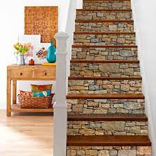 Buy ChezMax 3D Stone Stair Stickers DIY ...