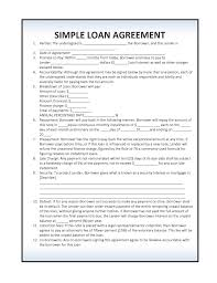 Loan Contract Template Word Gorgeous Simple Laon Agreement Template Mesotraining