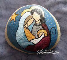 Resultado de imagen para piedras pintadas de nacimientos navidad
