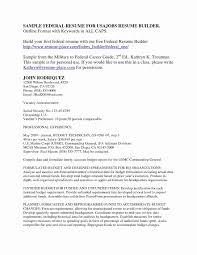 Federal Job Resume Format Sample Pdf Luxury Resume For Federal Jobs