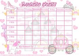 Gold Star Sticker Chart Perfect Princess Childs Reward Chart