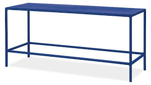 a cobalt blue rectangle coffee table on a white background