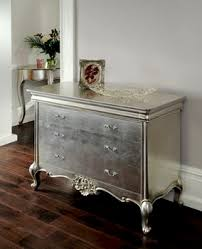 silver painted furniture. metallic painted dresser ohhhhhh i wanna do this to my that silver furniture t