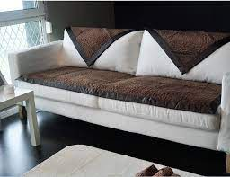 fashion brown fabric couch sofa cover