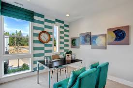 turquoise office decor. Turquoise Stripes In The Transitional Home Office Decor I