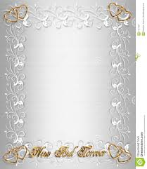 Wedding Invitation Border White Satin Stock Illustration Image
