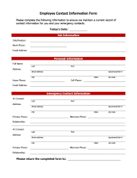 Contact List Spreadsheet Template Emergency Contact Template List For Business Form Home Free
