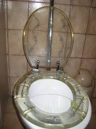 Adob Toilet Seat Barbed Wire Silver