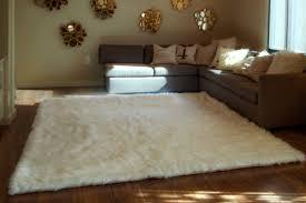 home interior unique faux fur rug 5x7 white sheepskin modern medium large true gy