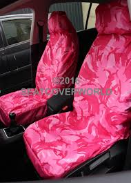 nissan pink camouflage waterproof front seat covers cube micra qx note murano