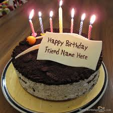 Write Name On Cute Birthday Cake For Friends Happy Birthday Wishes