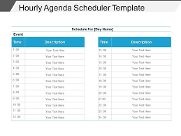 hourly agenda hourly agenda scheduler template powerpoint images