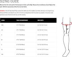 Knee Brace Size Chart Mobius X8 Knee Braces