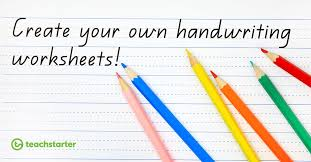 create your own handwriting sheets