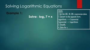 converting ln to e math 3 solving logarithmic mathematics building columbia