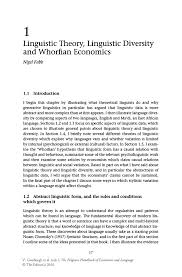 linguistic theory linguistic diversity and whorfian economics inside