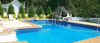 swimming pools with slides and diving boards. Plain Diving True EL Pool With Slide Diving Board And Volleyball Net In Swimming Pools With Slides And Boards O