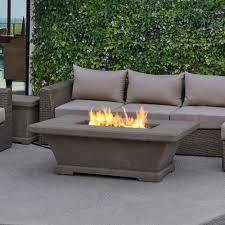 fiber concret rectangle propane gas fire pit in cream 11704lp tcrm the home depot