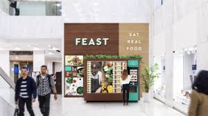 High Tech Food Vending Machines Awesome Former Food Delivery Service Feast To Bring Automated Food Kiosks To