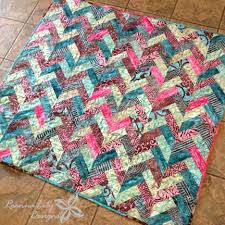 Batik Braid Quilt Tutorial | Fabric strips, Free motion quilting ... & Batik Braid Quilt Tutorial Adamdwight.com