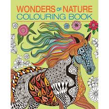 308421 wonders of nature colouring book