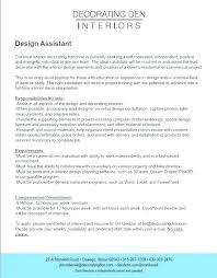 Interior Decorator Resume Examples Creative Design Author Cv