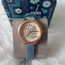 fossil bq3292 pocurpine blue leather watch