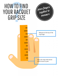 Tennis Racquet Grip Size Chart How To Find Your Tennis Racquet Grip Size Tennis Squash