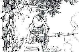 Scenery Coloring Pages Landscape Natural To Print Truyendichinfo