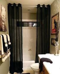 bathrooms with shower curtains black floor to ceiling shower curtain ideas for your narrow bathroom design bathrooms with shower curtains