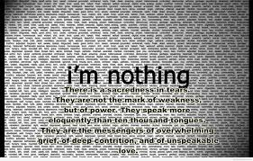 i am nothing quote with sad message