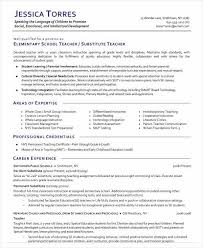 Substitute Teacher Resume Fascinating Pre K Teacher Resume New Substitute Teacher Resume Examples Lovely