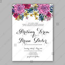 Wedding Card Template Fascinating Pink Chrysanthemum Wedding Invitation Card Printable Template