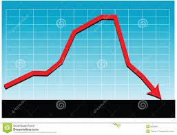 Sales Loss Chart Vector Stock Vector Illustration Of Graph