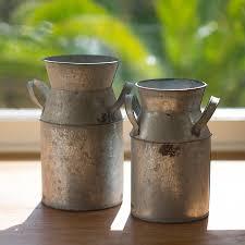 Decorative Jugs And Vases Vintage Style Milk Churn Flower Vase Vases Vintage And Vase