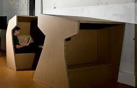 cardboard office by paul coudamy cardboard office