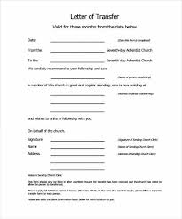 Church Membership Transfer Letter Template Monmouth Prestery Clerks