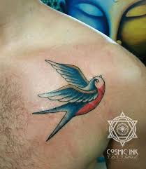 Swallow Bird Old School Style For Cosmic Ink Tattoo