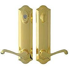 atrium door lock replacement hardware set polished peachtree french door hardware smart door sensor