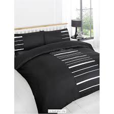 image of duvet cover black embellished