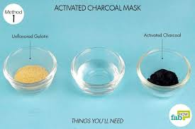 this diy charcoal clay face mask is a homemade remedy for acne and blackhead removal made with bentonite clay activated charcoal tea tree oil and apple cider vinegar this recipe is detoxifying