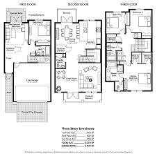 Townhouse Floor Plans  Story Townhouse Floor Plans Car Pictures Three Story Floor Plans