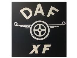daf xf truck led logo light board 24v