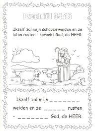 Ezechiel 3415 Schapen Weiden Kerkboekje Bijbel Kleurplaten De