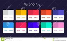 Flat Web Design Color Palette Set Of Colorful Trendy Flat Color Template Collection