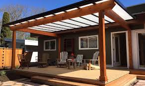 natural light woodframe patio cover