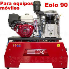 compresor de aire de gasolina. moto compresor de aire a gasolina para equipos móviles eolo 90 t