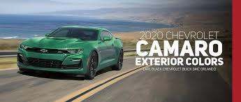 2019 Suburban Color Chart 2020 Chevrolet Camaro Color Options Carl Black Orlando