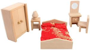 Miniature Dollhouse Bedroom Furniture Pigloo Solid Wood Miniature Toy Dollhouse Bedroom Furniture Buy